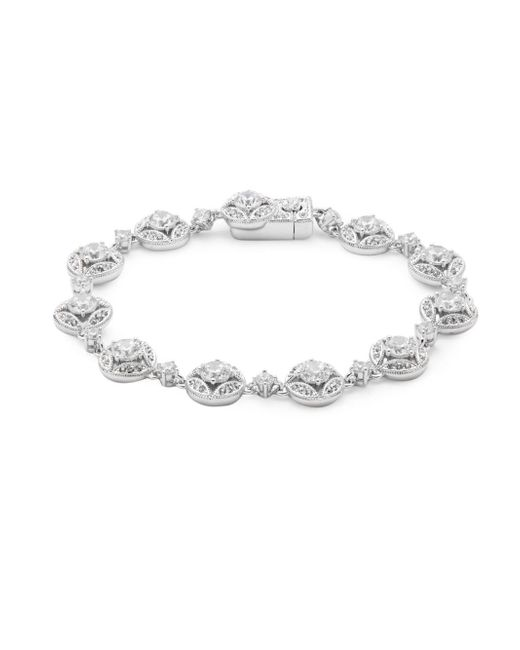 Adriana Orsini - Metallic Clear Crystals & Silver Bracelet - Lyst