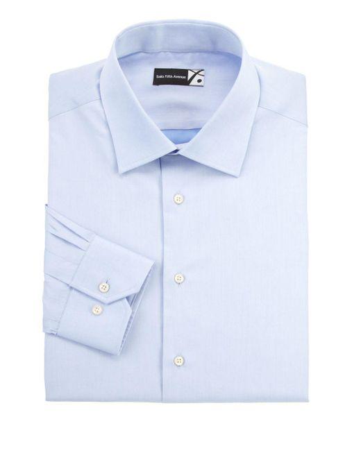 Saks Fifth Avenue - Blue Regular-fit Dress Shirt for Men - Lyst
