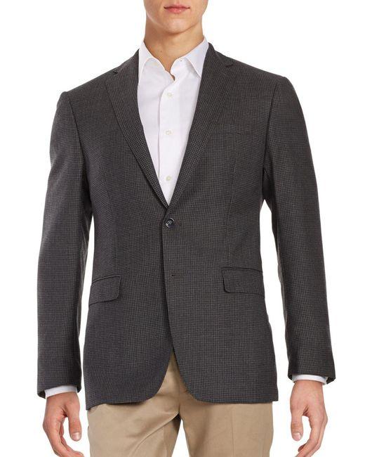 CALVIN KLEIN 205W39NYC - Gray Micro Checked Wool Blazer for Men - Lyst