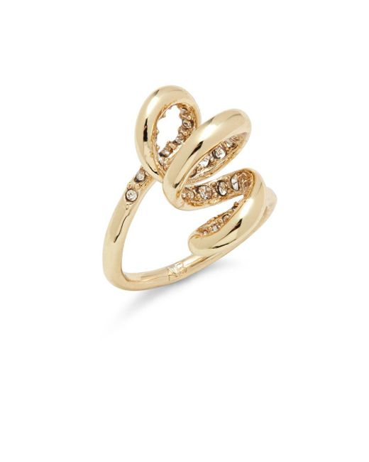 Alexis Bittar | Metallic 10k Gold-plated Crystal Spiral Ring | Lyst