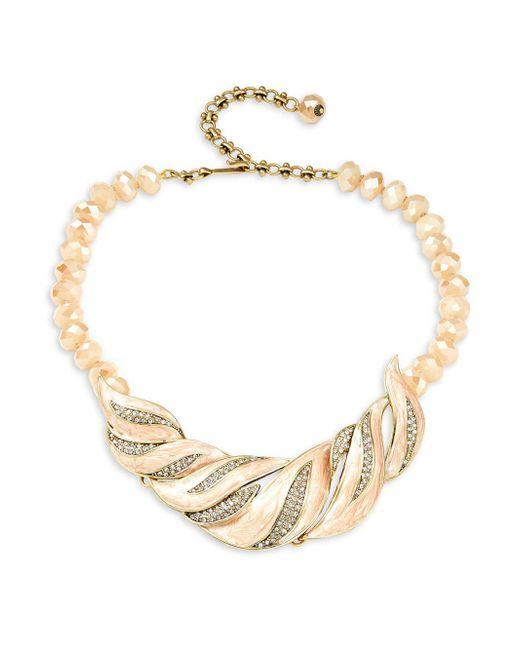 Heidi Daus - Metallic Crystal-embellished Statement Necklace - Lyst