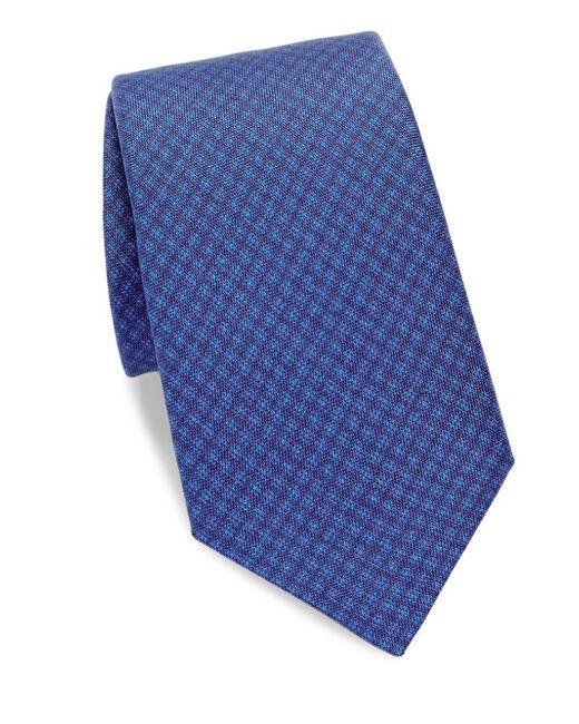Saks Fifth Avenue - Blue Textured Silk Tie for Men - Lyst