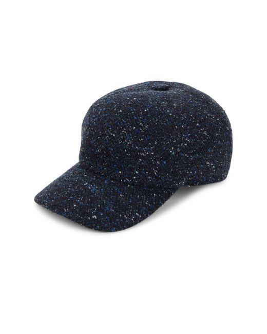 Saks Fifth Avenue - Blue Tweed Baseball Cap for Men - Lyst