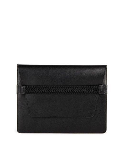 Saks Fifth Avenue - Black Leather Ipad Case for Men - Lyst