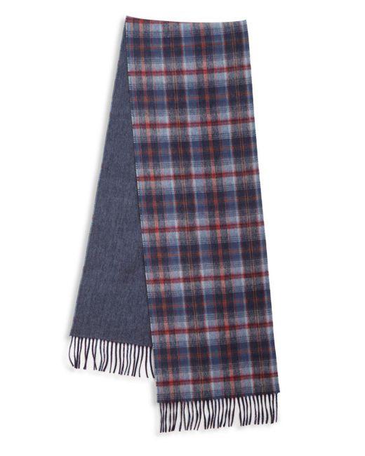 Saks Fifth Avenue - Blue Johnstons Of Elgin Plaid Merino Wool & Cashmere Scarf - Lyst