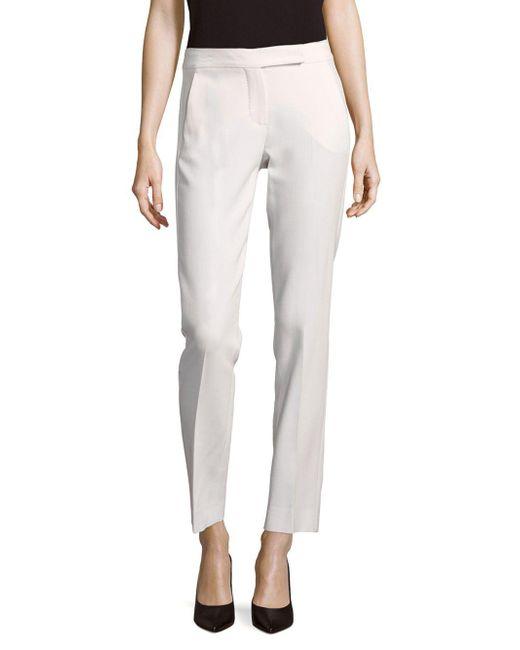 Max Mara - White Siesta Solid Wool-blend Pants - Lyst