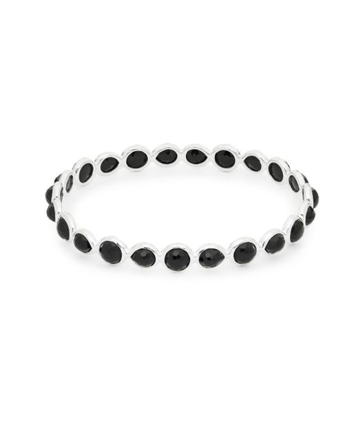 Ippolita - Metallic Rock Candy Onyx And Sterling Silver All Around Bangle Bracelet - Lyst