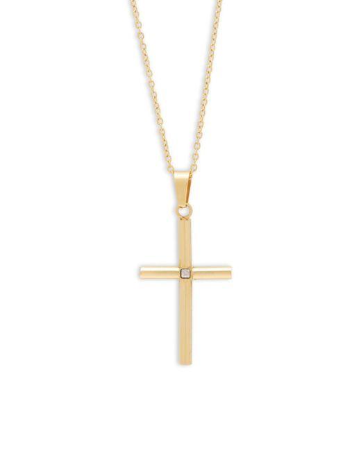 Saks Fifth Avenue | Metallic Goldtone Tubular Cross Pendant | Lyst