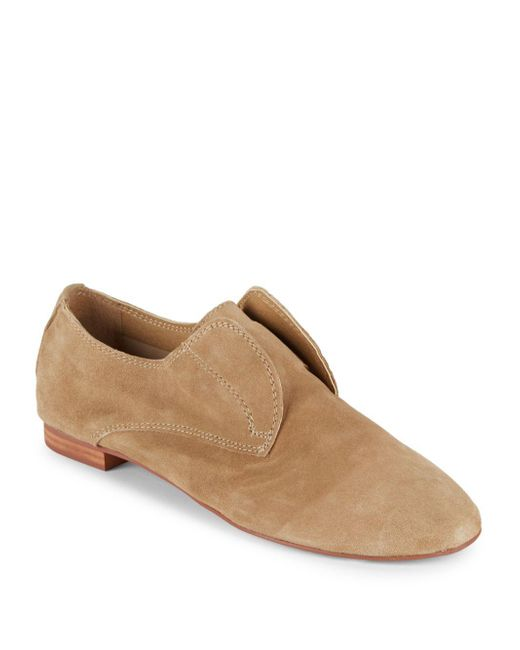 Saks Fifth Avenue - Natural Leather Laceless Oxfords for Men - Lyst
