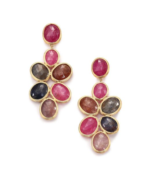 Marco Bicego - Metallic Siviglia Multicolor Sapphire & 18k Yellow Gold Chandelier Drop Earrings - Lyst