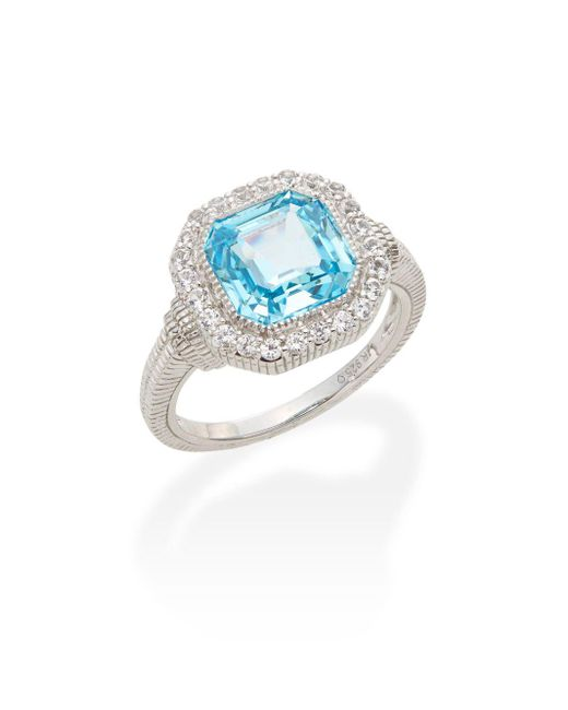Judith Ripka | Metallic Legacy Sky Blue Crystal, White Sapphire & Sterling Silver Ring | Lyst