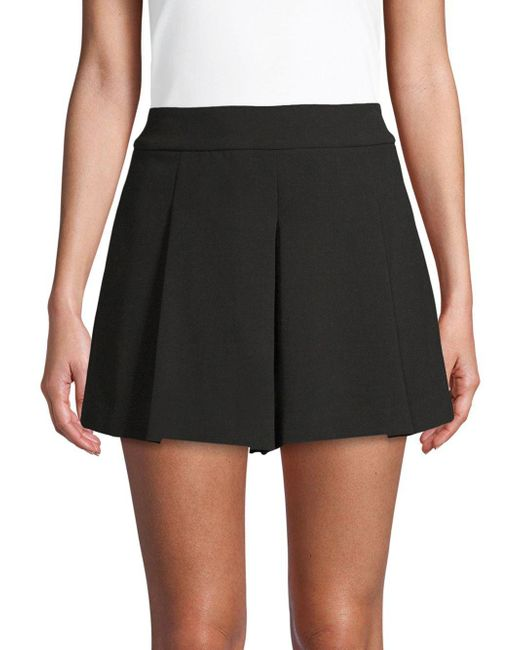 Alice + Olivia - Black Olette Pleated Shorts - Lyst
