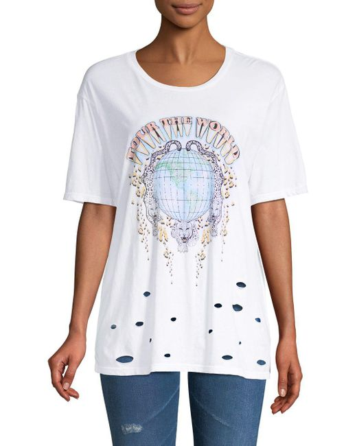 Project Social T - White Tour The World Cotton Tee - Lyst