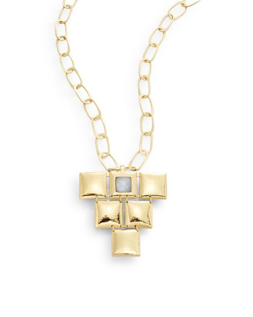 Stephanie Kantis | Metallic Mini Flapper Quartz & 24k Yellow Gold Pendant | Lyst