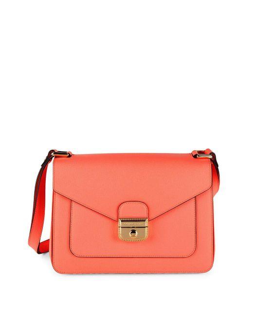 Longchamp   Pink Le Pliage-heritage Leather Foldover Satchel   Lyst