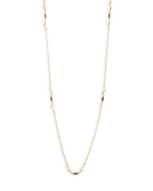 Eddie Borgo - Yellow Crystal Navette Chain Necklace - Lyst