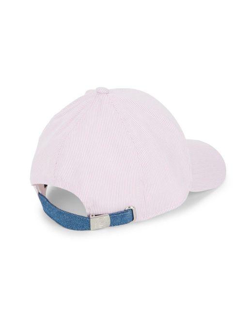 e02a80ea173 Lyst - Karl Lagerfeld Striped Baseball Cap in Pink for Men