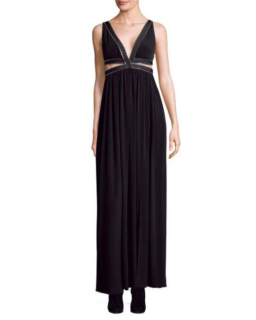 Each x Other - Black Zip-detail Maxi Dress - Lyst
