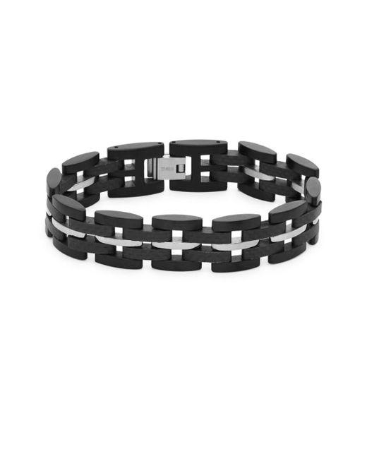 Tateossian - Black Fold-over Bracelet for Men - Lyst