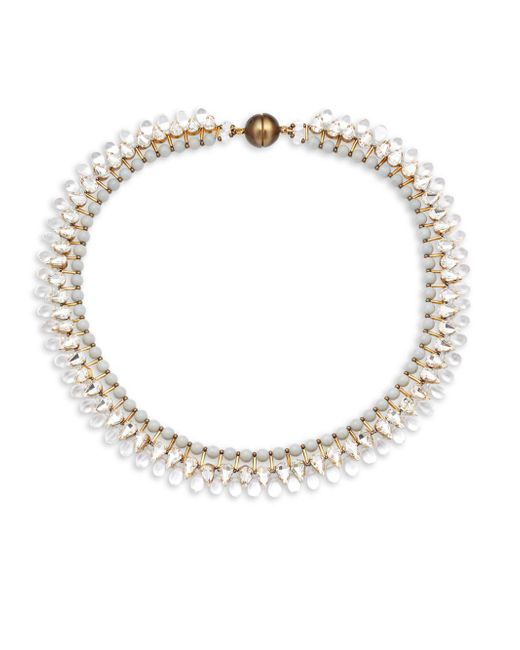 Tataborello | White Crystal Studded Choker Necklace | Lyst