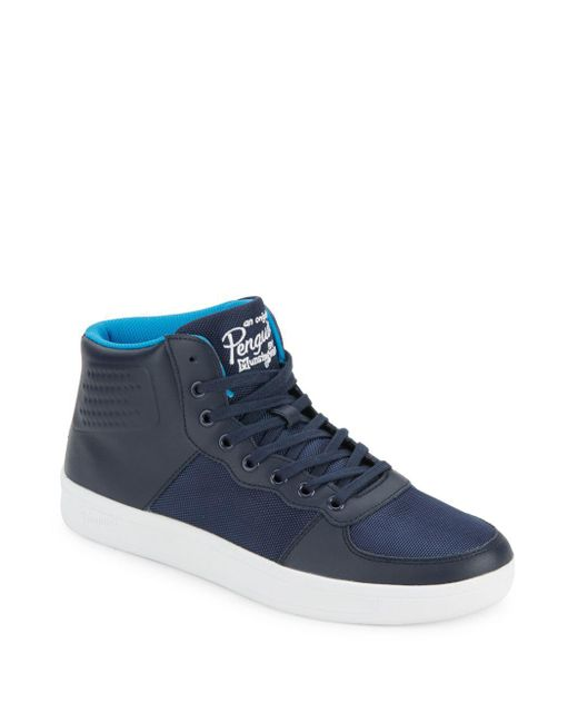 Original Penguin   Blue High-top Lace-up Sneakers for Men   Lyst