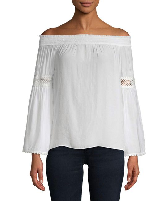 00eacd6f9c1d41 Lyst - Ramy Brook Dalia Off-the-shoulder Top in White - Save 25%