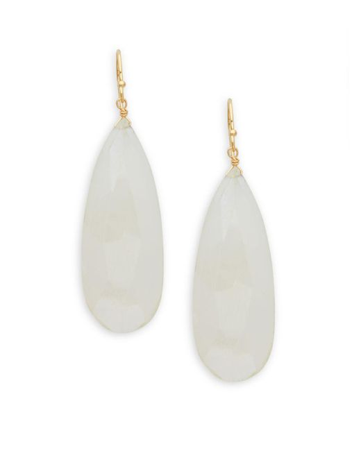 Alanna Bess - Metallic White Mystic Topaz Drop Earrings - Lyst