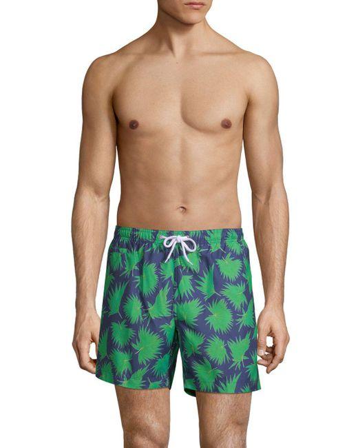 Trunks Surf & Swim - Green San-o Swim Shorts for Men - Lyst