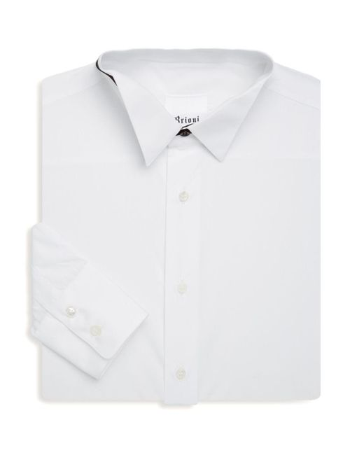 Brioni - White Point Collar Button-up Dress Shirt for Men - Lyst