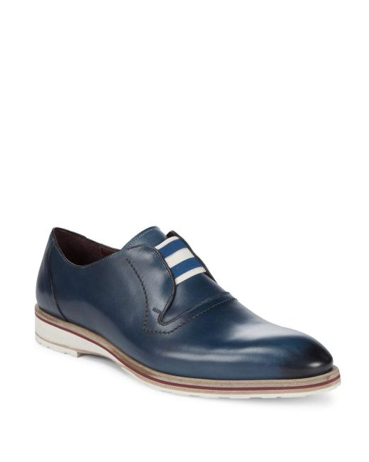 Mezlan - Blue Volta Leather Loafers for Men - Lyst
