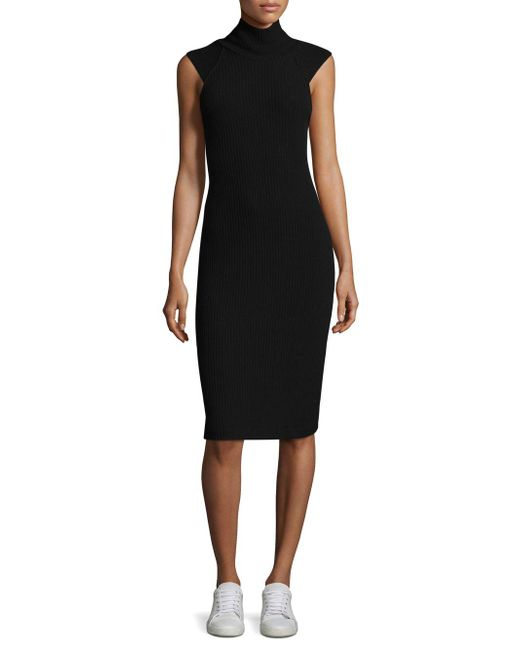 Ella Moss - Black Mockneck Bodycon Dress - Lyst