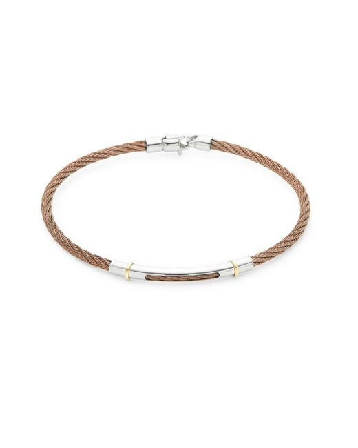 Alor - Metallic 18k Yellow Gold Bronze Cable Bracelet - Lyst