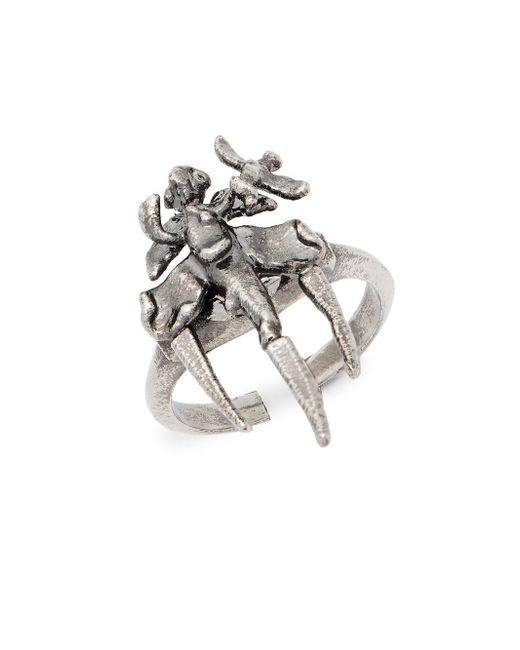 Valentino - Metallic Argento Statement Ring - Lyst