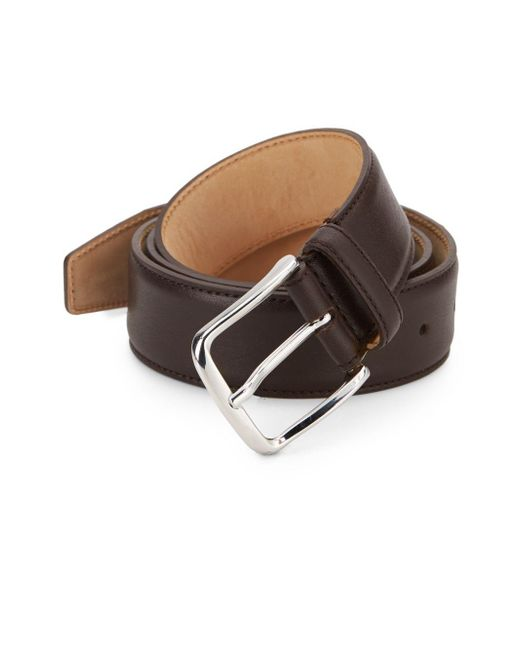 Saks Fifth Avenue - Metallic Leather Belt for Men - Lyst