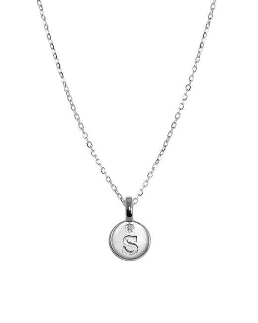 Alex Woo - Metallic Mini Additions Diamond And Sterling Silver Mini Letter S Pendant Necklace - Lyst
