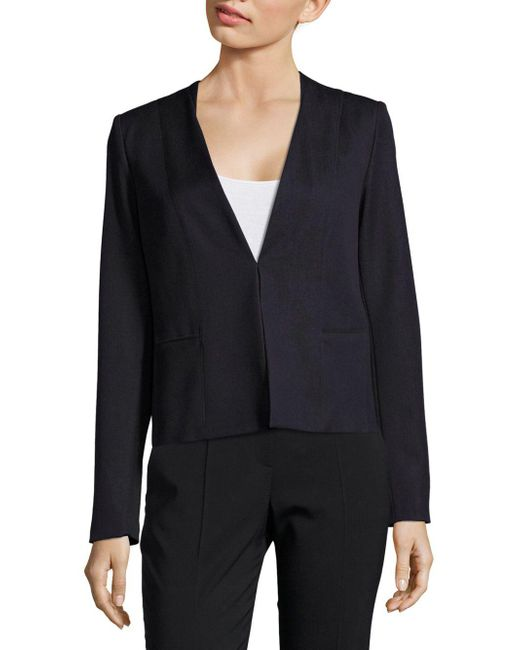 T Tahari   Blue Binx V-neck Jacket   Lyst