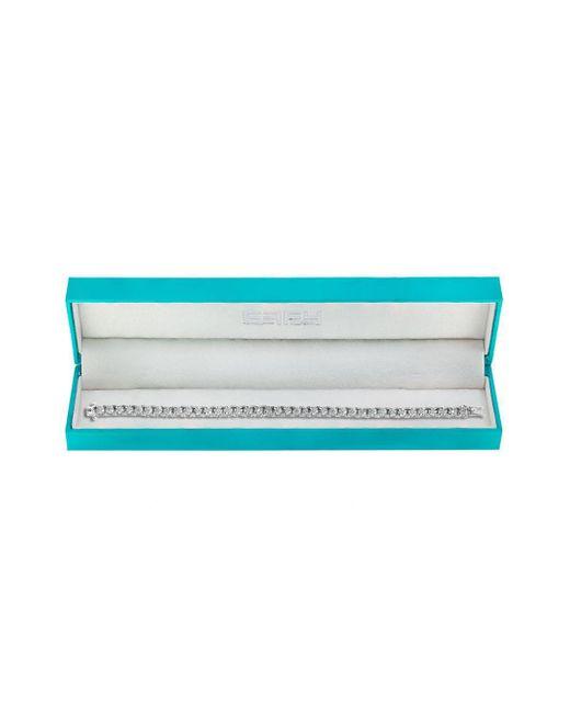 Effy - Metallic Diamond And 14k White Gold Tennis Bracelet - Lyst