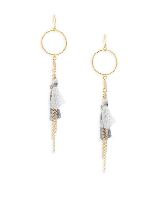 Chan Luu - Metallic Tassel Drop Earrings - Lyst