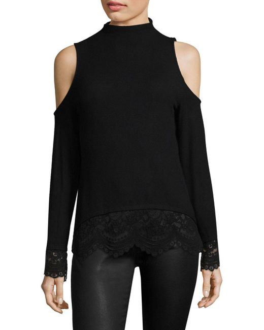 Generation Love - Black Louisa Lace Mockneck Top - Lyst