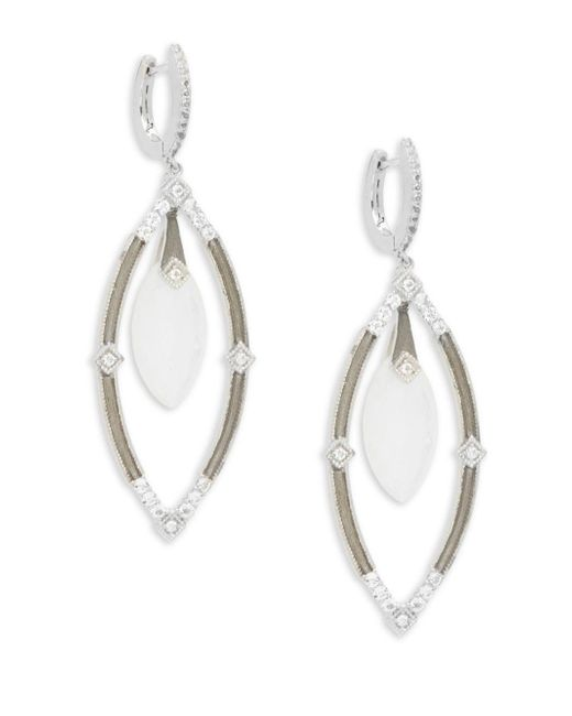 Jude Frances - Metallic Encore Sterling Silver Open Marquis Earrings - Lyst