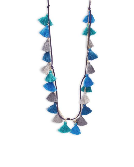 Panacea | Blue Suede And Chain Multiple-strands | Lyst