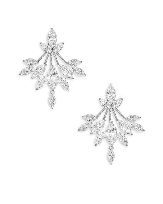 Adriana Orsini - Metallic Cubic Zirconia Kite Drop Earrings - Lyst