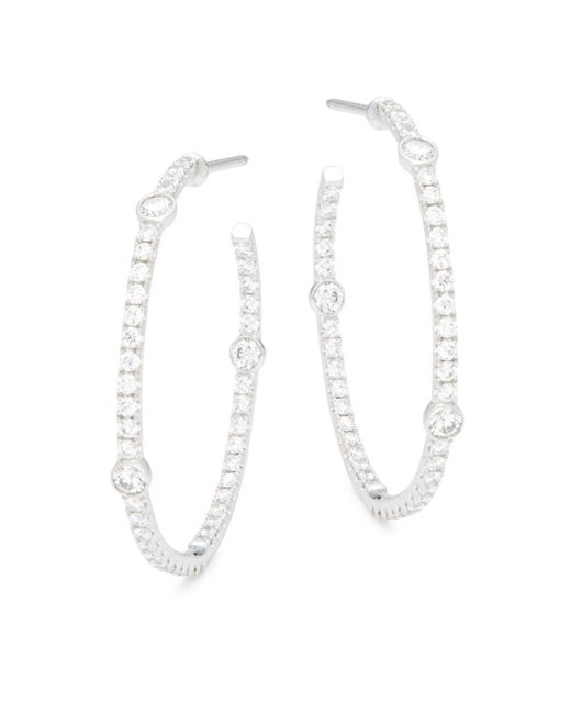 Kwiat - Metallic Confetti Diamond & 18k White Gold Earrings - Lyst