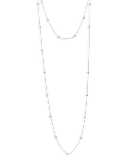 Pure Navy - Metallic Crystal And Sterling Silver Multi-strand Necklace - Lyst