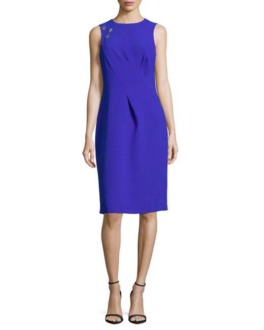 Rene Ruiz - Gray Sleeveless Sheath Dress - Lyst