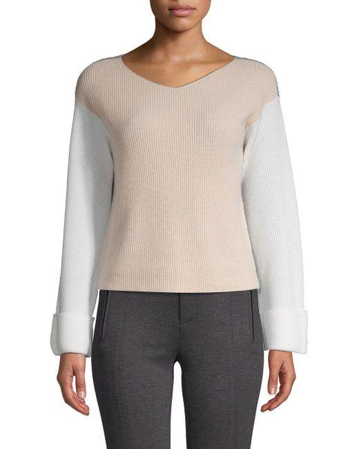Vince - Multicolor Colorblocked Cashmere Sweater - Lyst