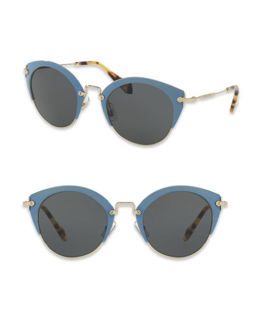 Miu Miu - Metallic 52mm Phantos Sunglasses - Lyst