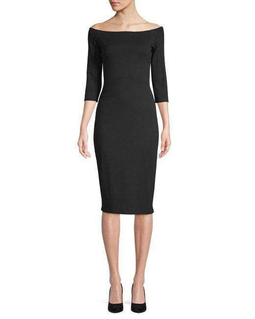 Bailey 44 - Black Date Night Off-shoulder Bodycon Dress - Lyst