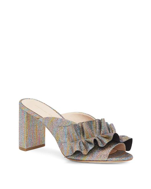 Loeffler Randall - Metallic Leather Sandals - Lyst