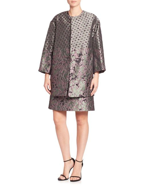 Natori | Multicolor Mixed Print Jacquard Coat | Lyst